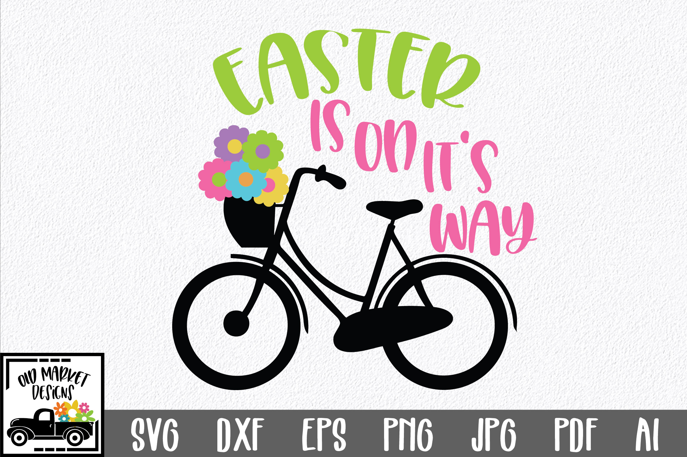 Easter SVG Cut File - Easter is on it's way SVG DXF EPS PNG example image 1