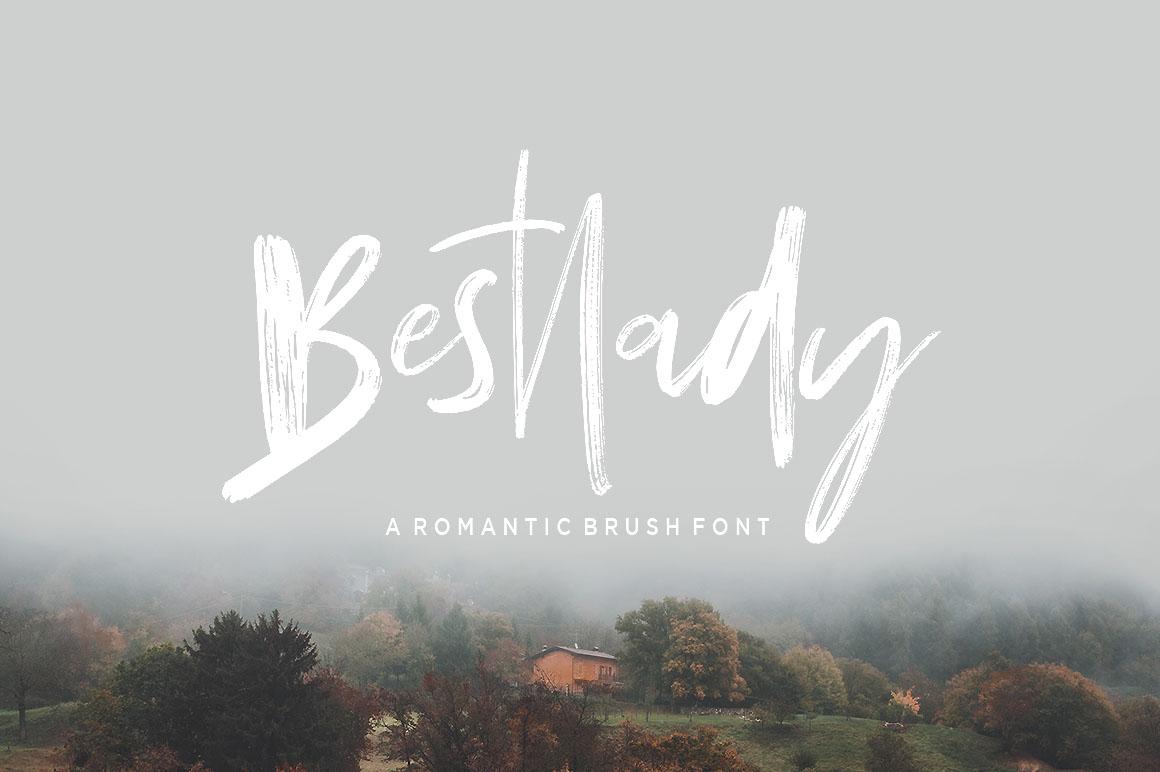 Bestlady Brush Font example image 10