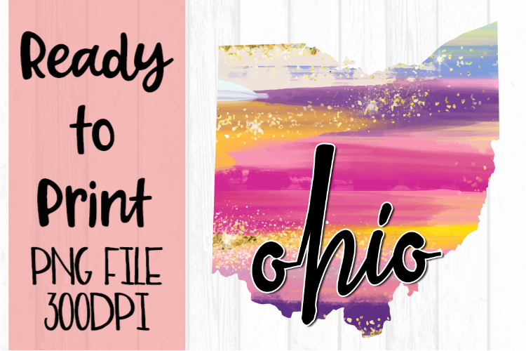 Ohio Painted States Ready to Print example image 1