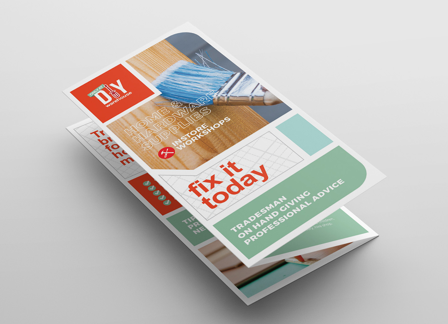 DIY Tool Supply Tri-Fold Brochure Template example image 3