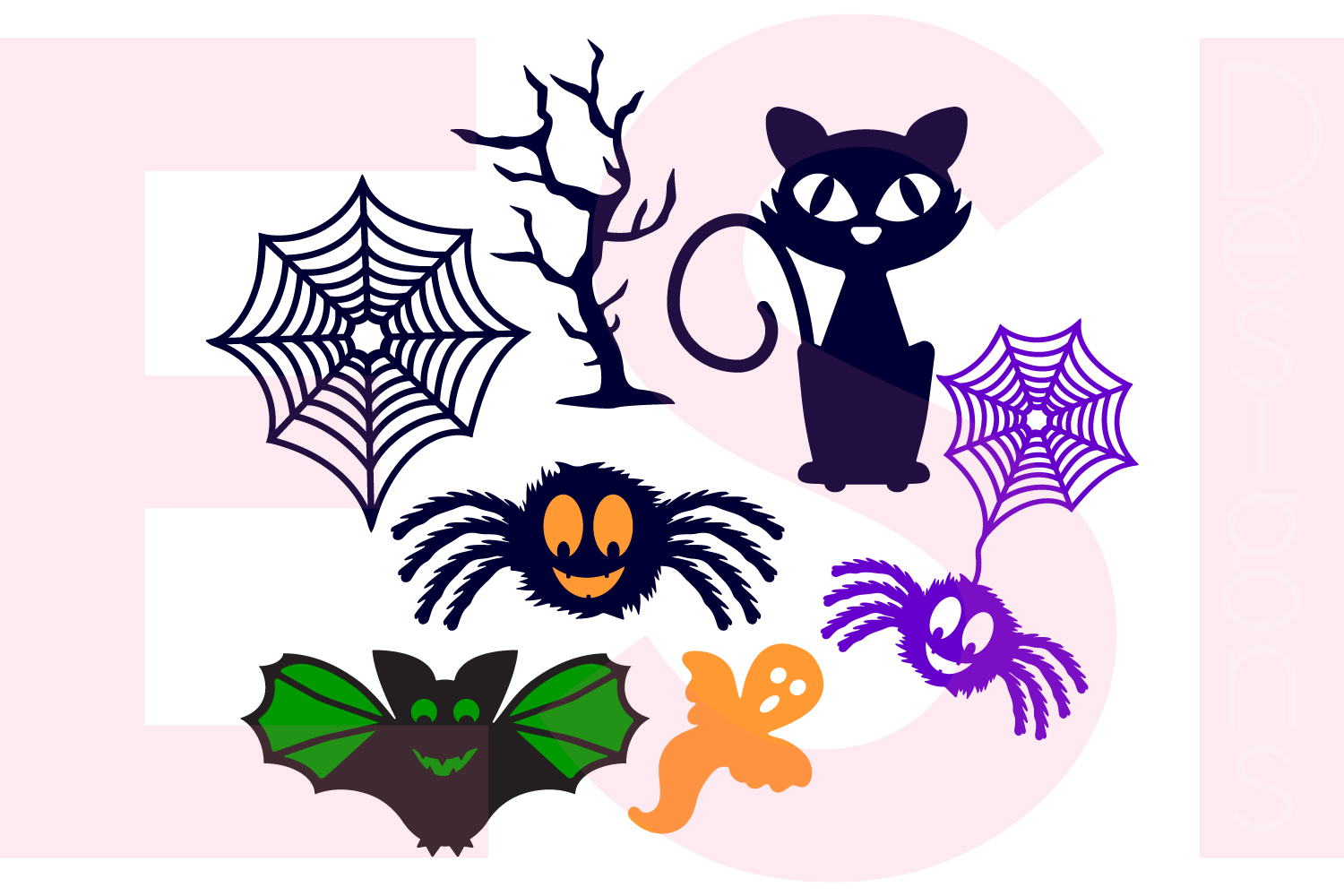 Halloween and Fall Designs Bundle -SVG DXF EPS & PNG example image 25