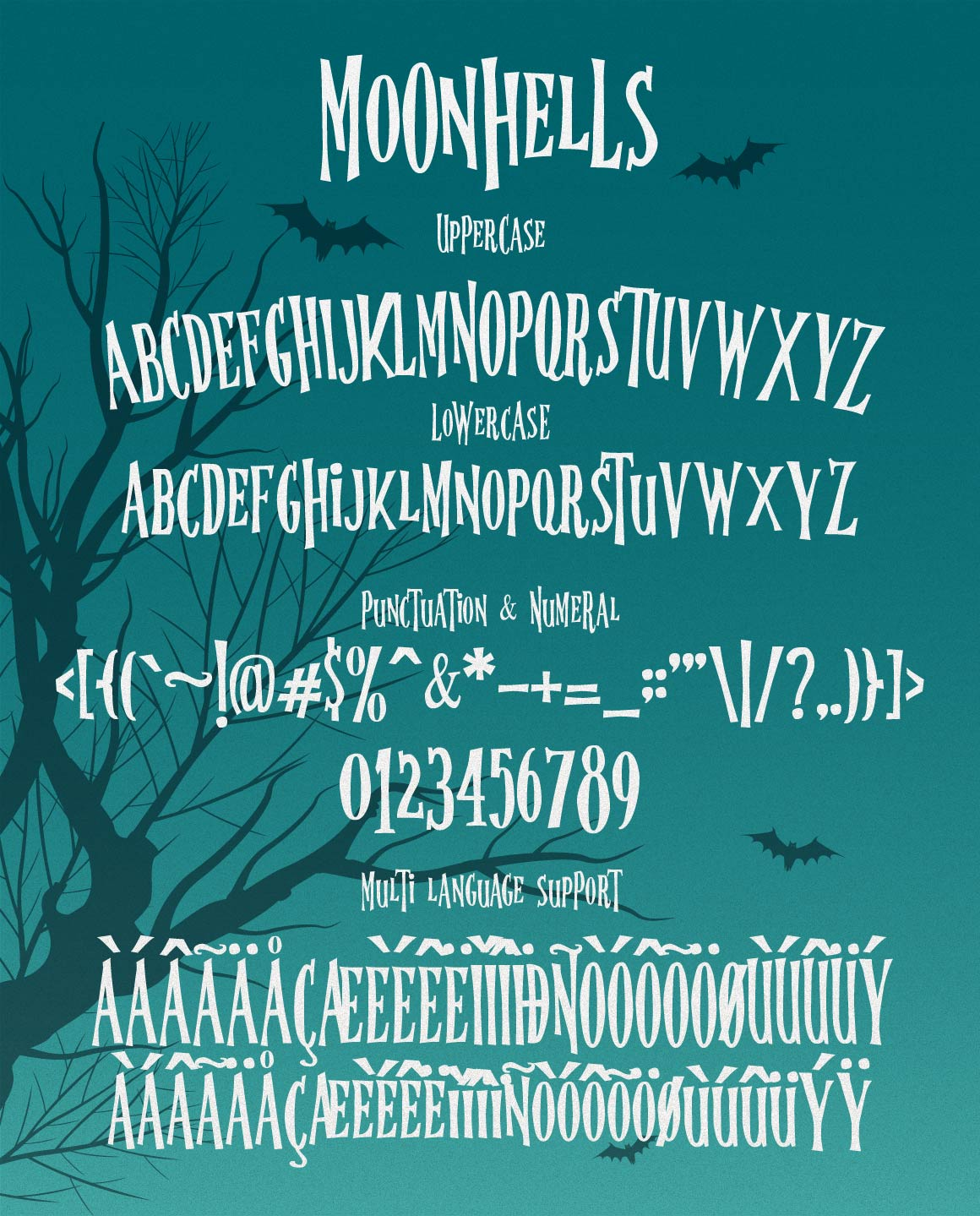 Moonhells Typeface example image 2