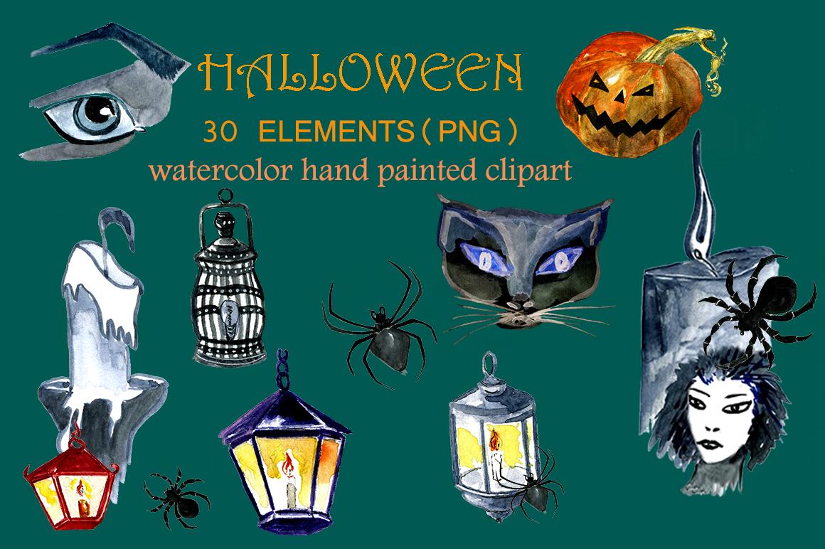 Set of watercolor Halloween example image 2
