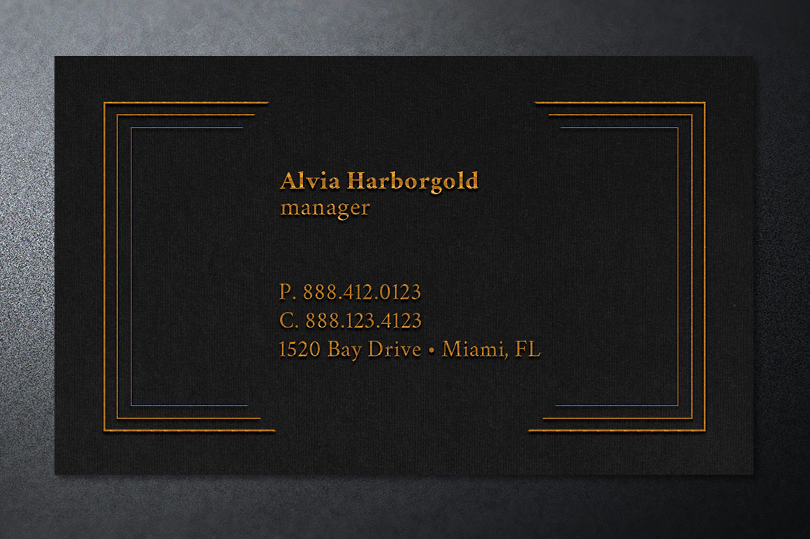 Jewelry Store Business Card Photoshop Template example image 4