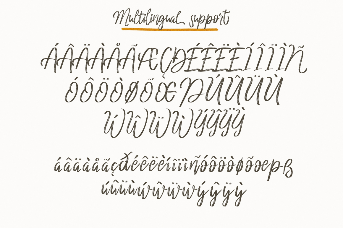 cherrio brush font example image 3