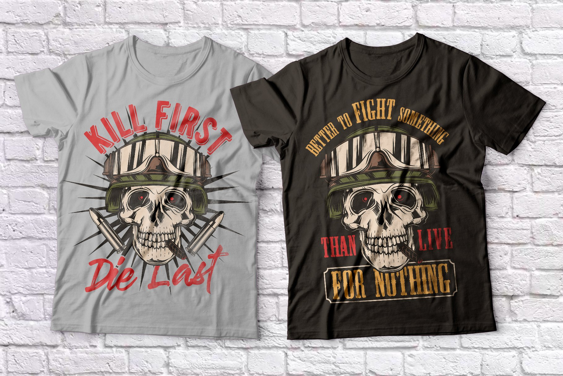 Warriors and bikers T-shirts set example image 4