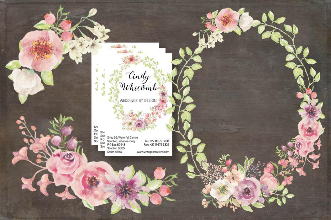 'Blushing Bride': wedding clip art set example image 3