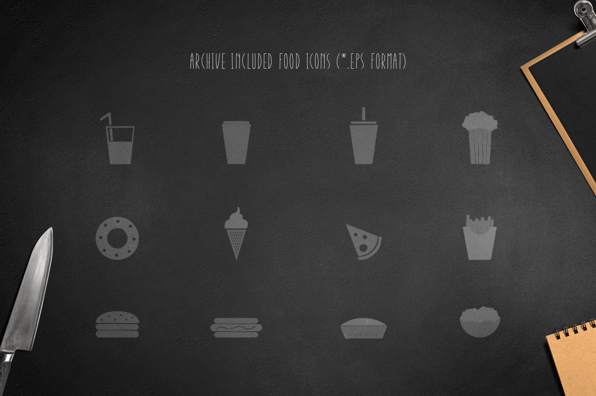 Montclar Font & Food Icons example 5