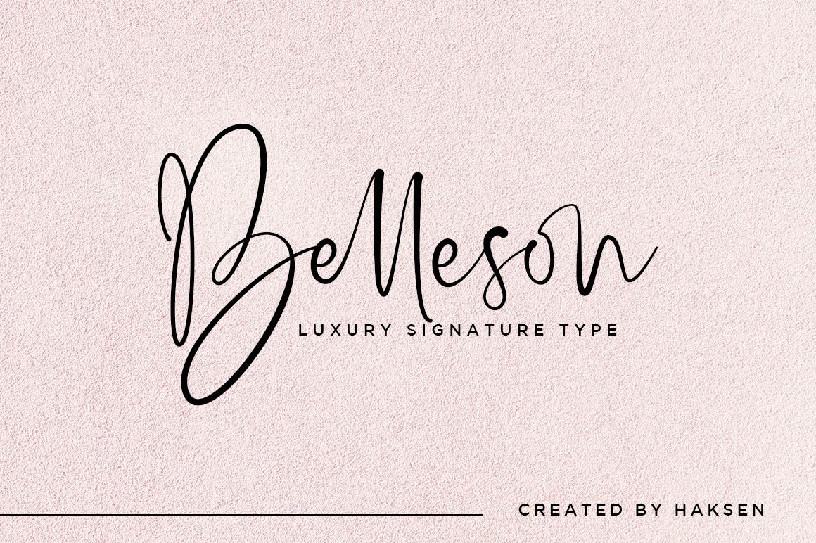 Belleson Luxury Script Type example image 1