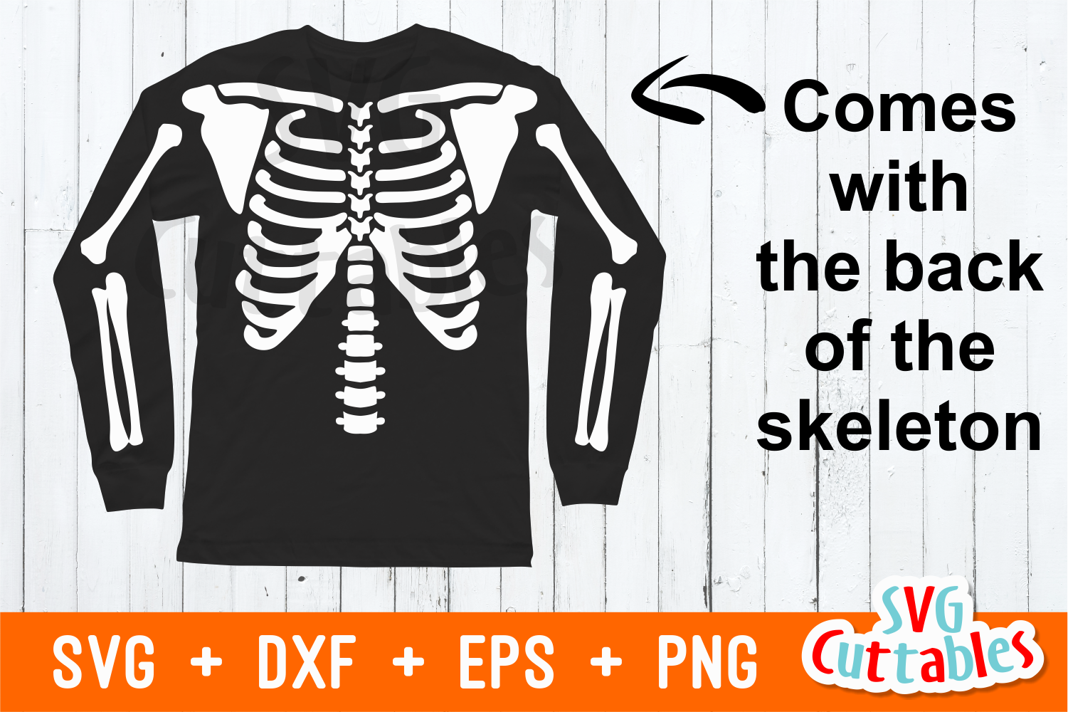 Pregnant Skeleton | SVG Cut File example image 2