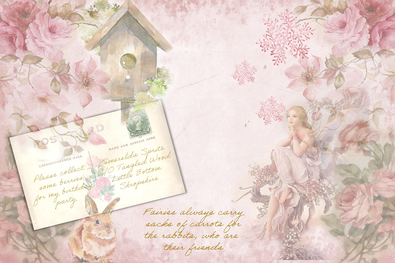 Printable Fairy Journaling Kit, Free Ephemera and PNGs example image 3