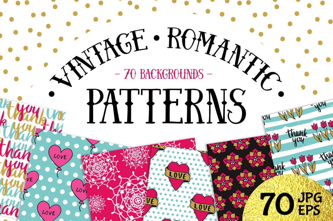 70 Valentine's Day Seamless Patterns example image 1
