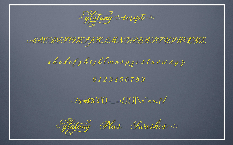 Glatang Script example image 7