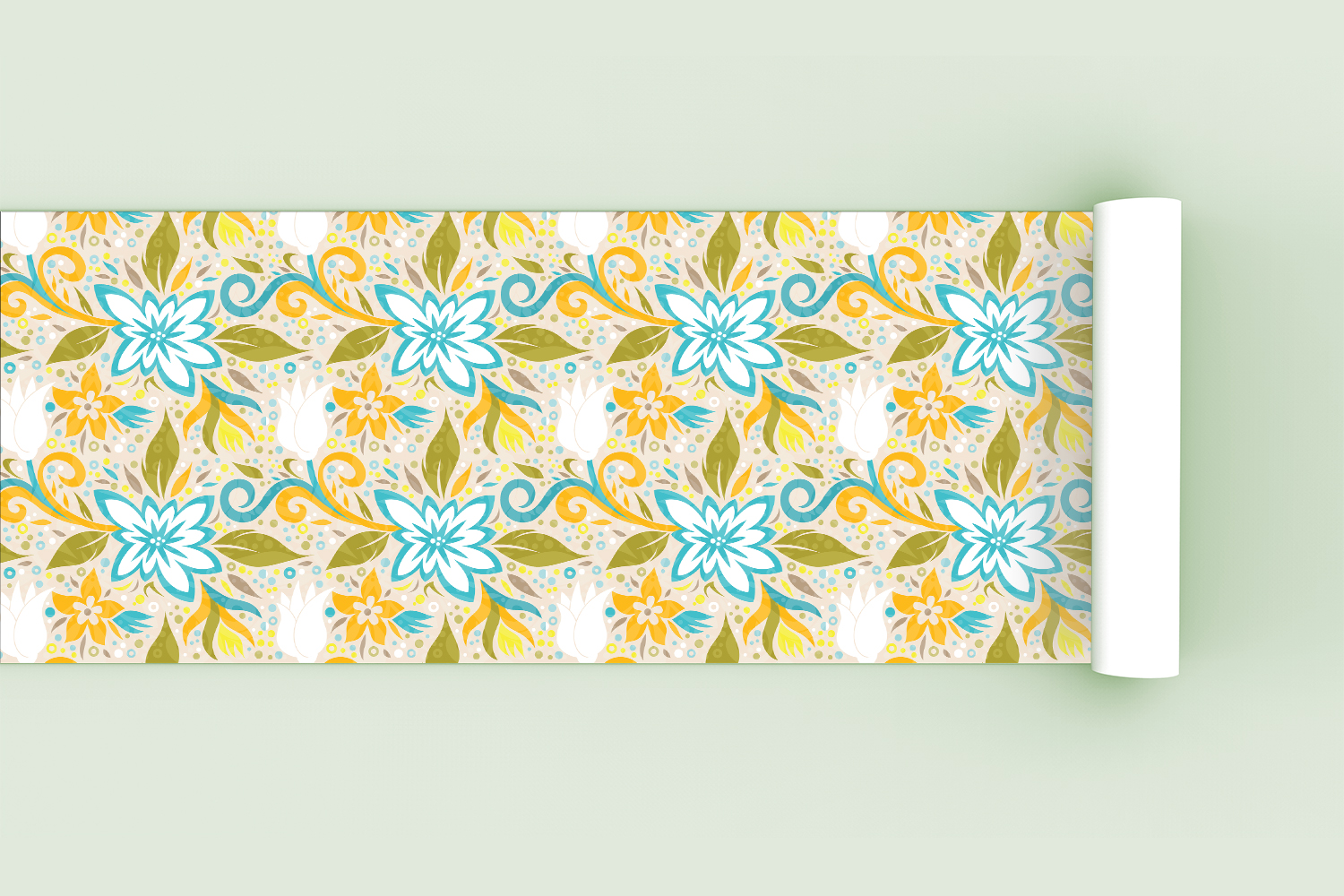 Floral Dynamic Vector Pattern example image 2