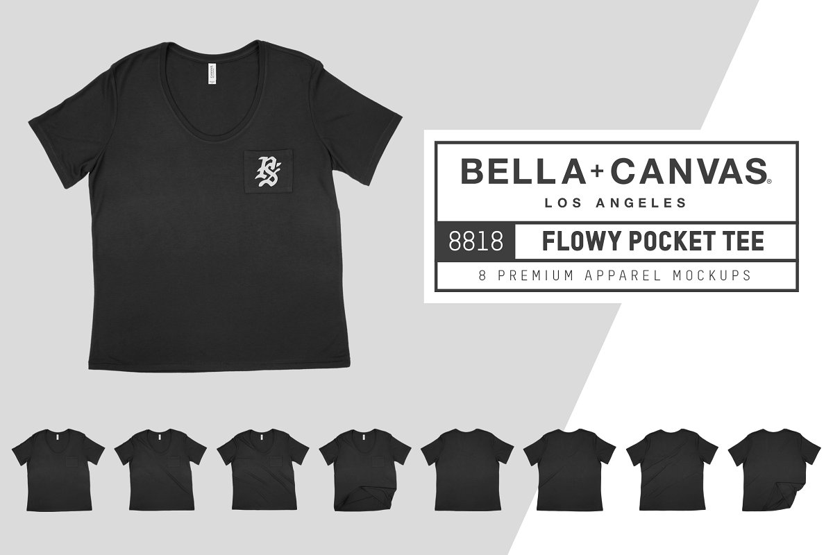 Bella Canvas 8818 Flowy Pocket Tee example image 1