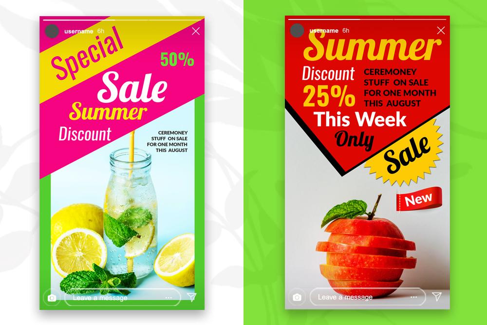 4 Instagram Stories - Summer Juice example image 3