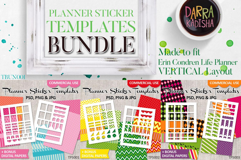 Templates Bundle Vol. 1 - Planner Stickers Digital DIY Kit example image 1