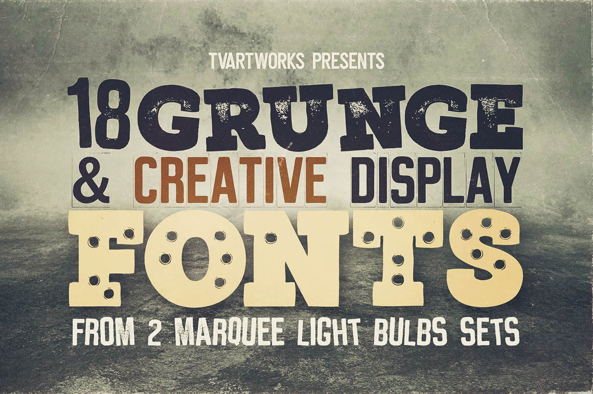 Marquee - 18 Grunge Fonts example image 2