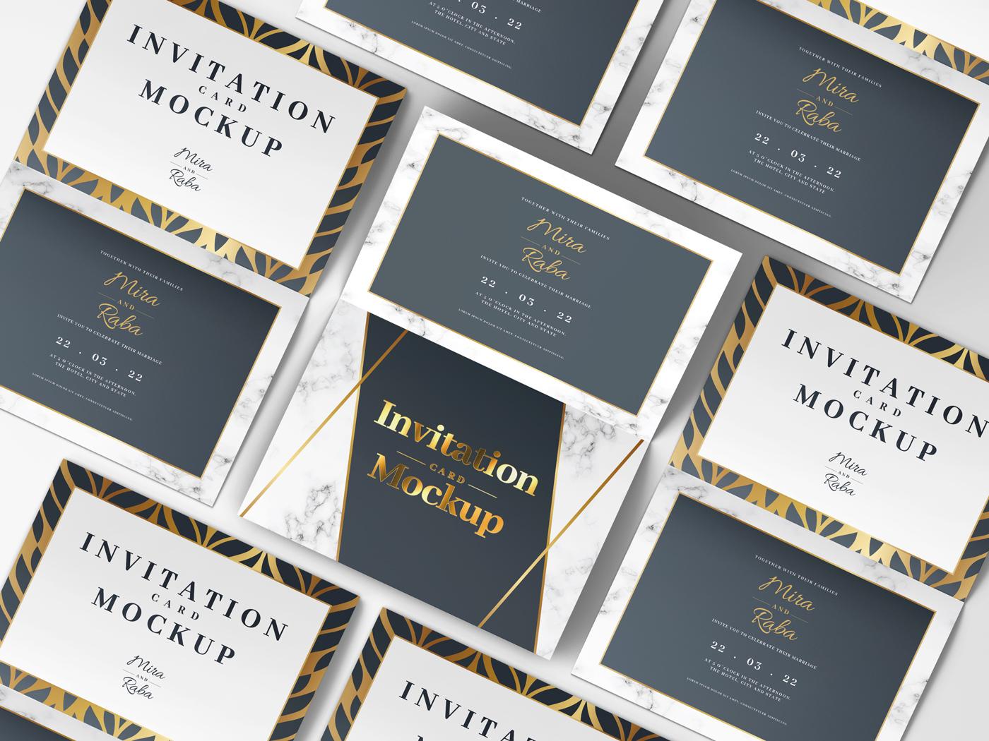 Invitation Card Mockups V1 example image 11