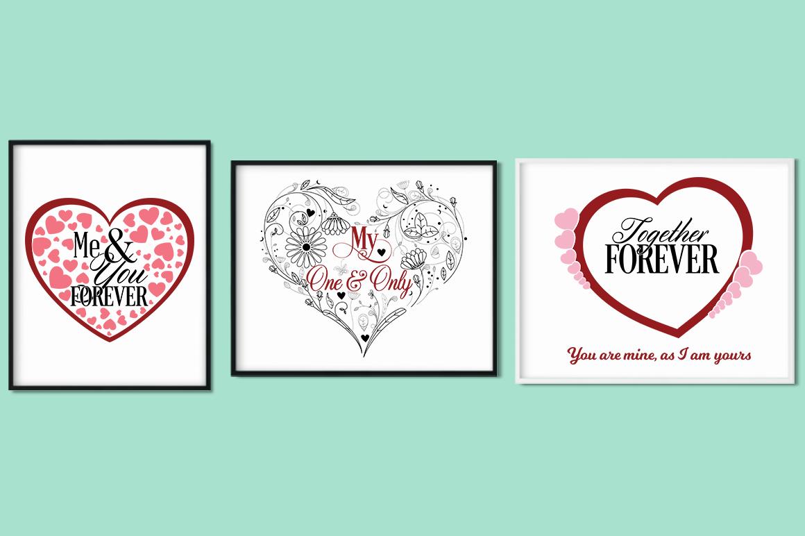 Love Quotes Bundle - Valentine SVG Cut Files example image 6