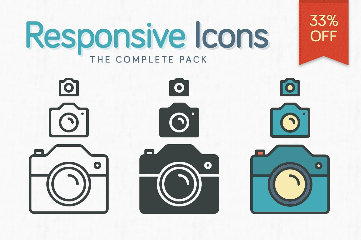 Responsive Icons – The Complete Pack example image 1