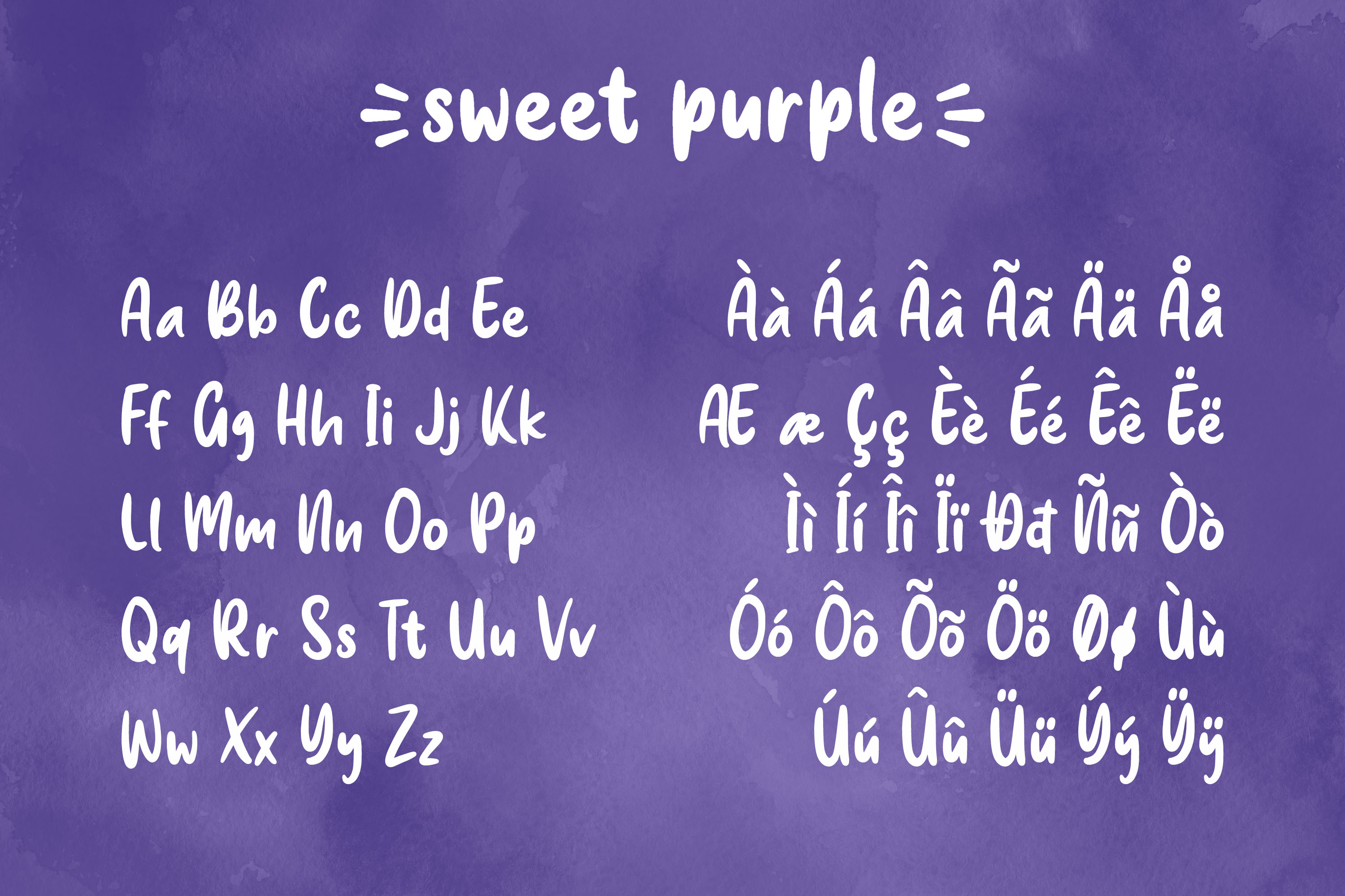Sweet Purple - Cute & Playful Font example image 9