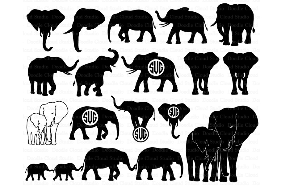 Download Elephants SVG, Elephant family svg, Elephant SVG files.