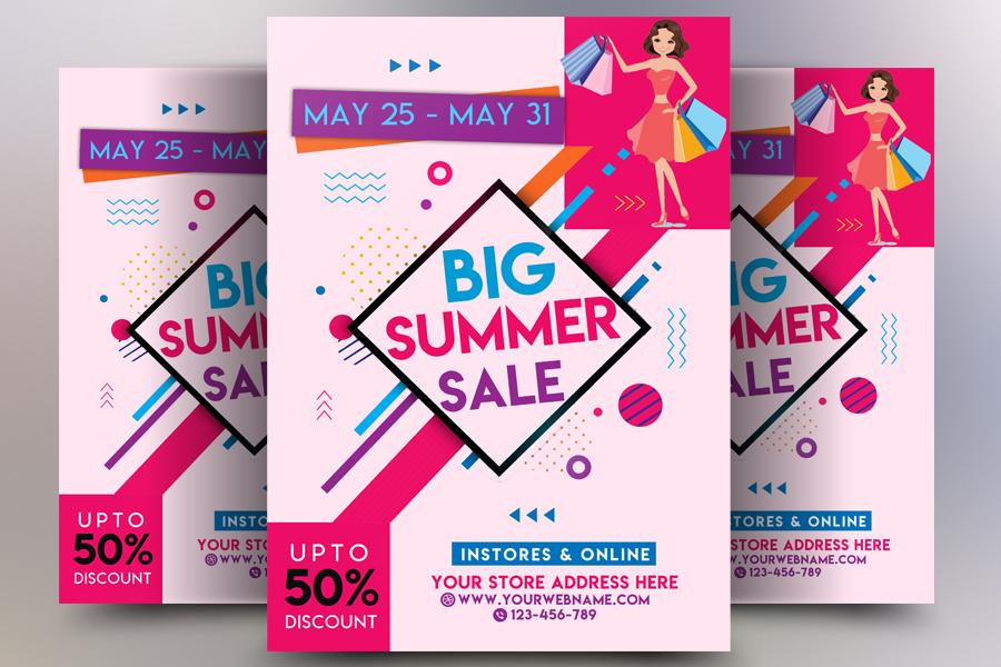 Big Summer Sale Flyer example image 1