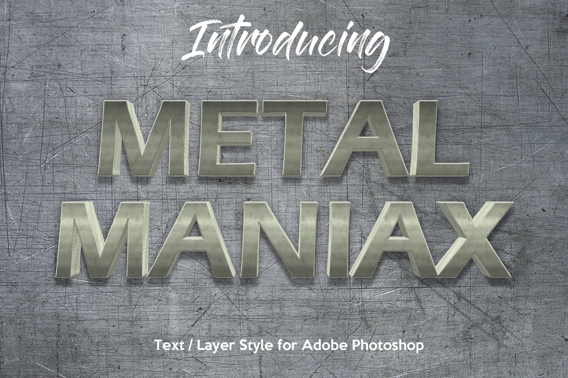 10 Metalic Chrome Layer Style for Photoshop example image 1