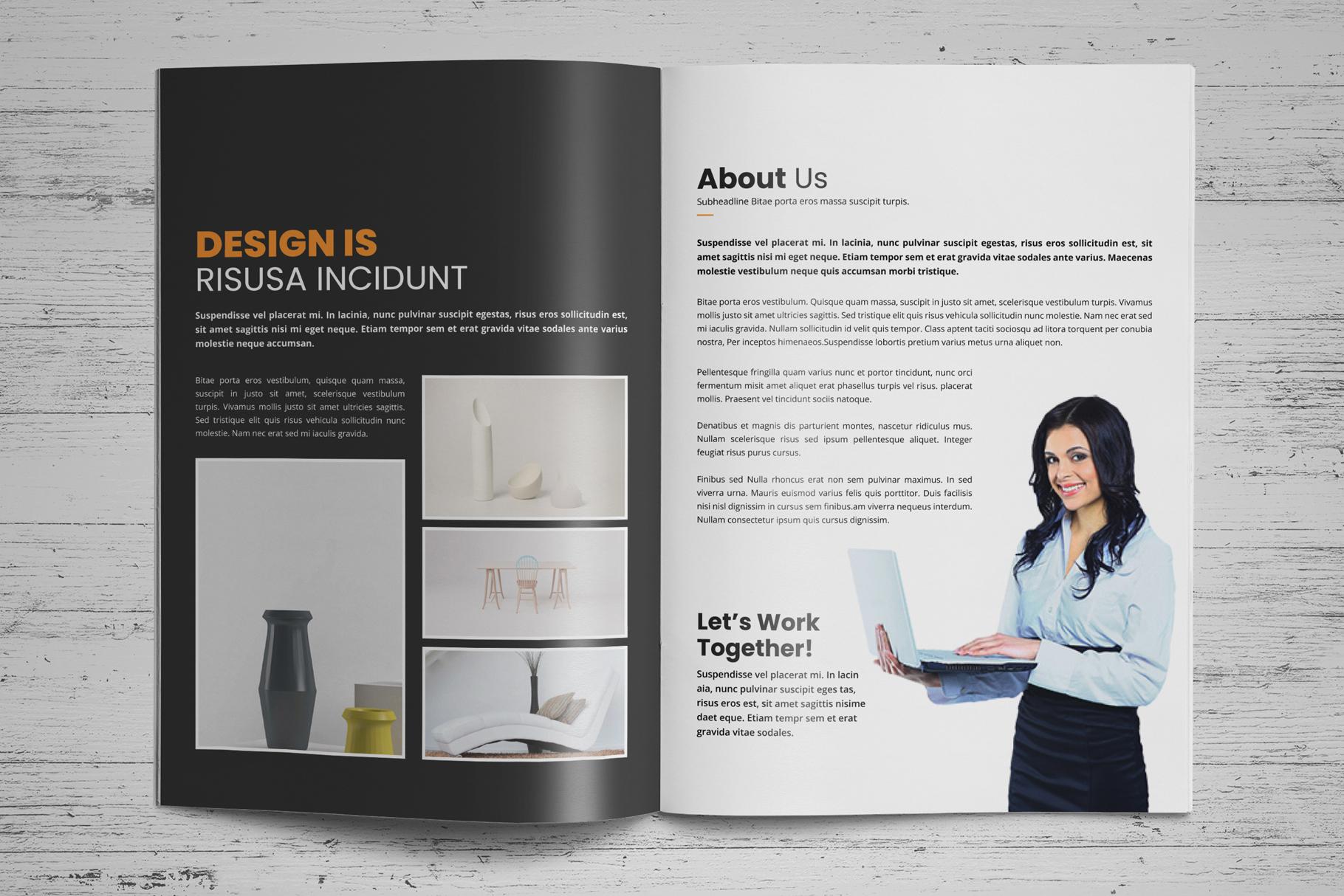 Portfolio Brochure Design v4 example image 3
