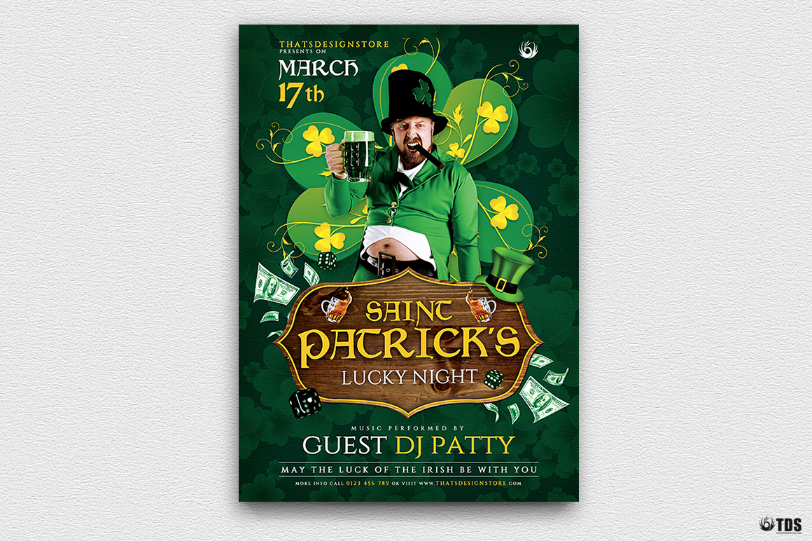 Saint Patricks Day Flyer Template V1 example image 2