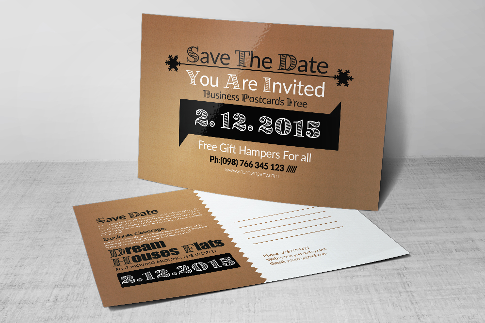 Save The Date Wedding Postcards example image 2
