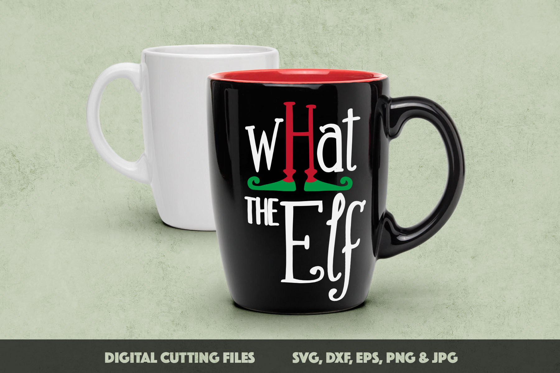 What the Elf - Cute Christmas SVG Cut Files example image 3