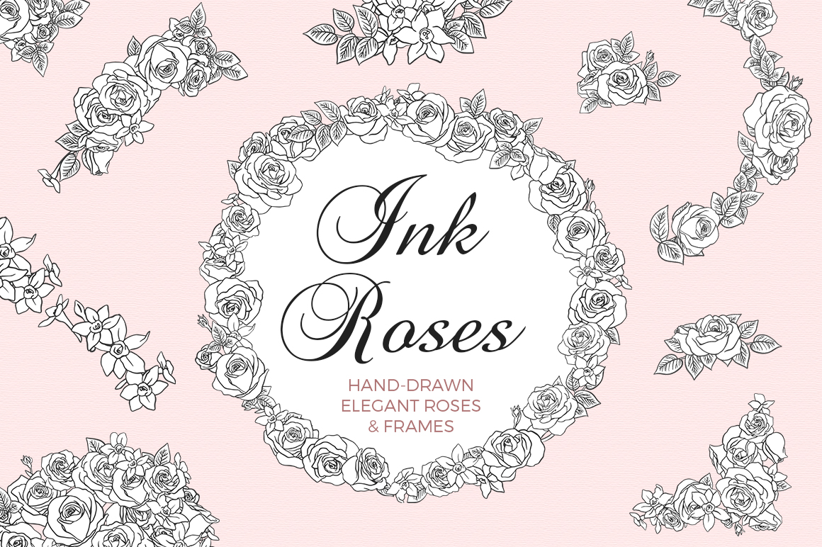 Ink Roses - Elegant roses and frames example image 1
