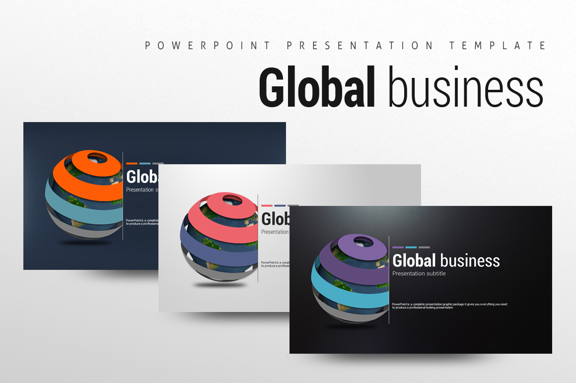 Global Business PowerPoint Template  example image 1