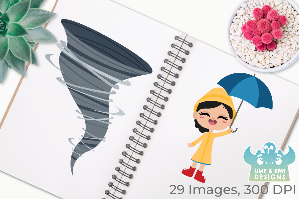 Weather Clipart, Instant Download Vector Art, Commercial Use example image 3