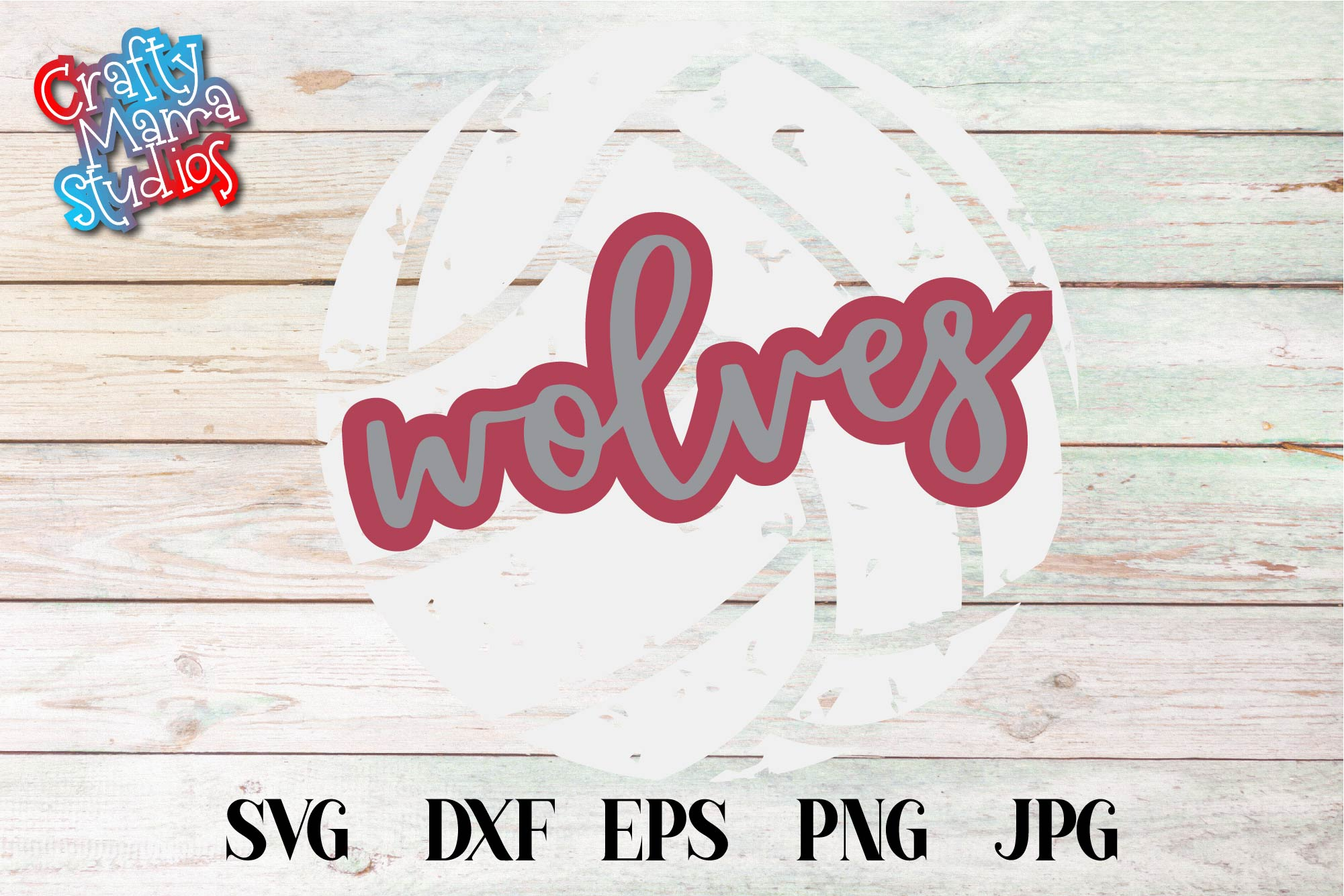 Sports SVG, Wolves Volleyball SVG, Sports Sublimation example image 2