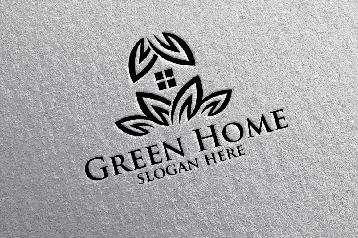 Real estate Logo, Green Home Logo 16 example image 2