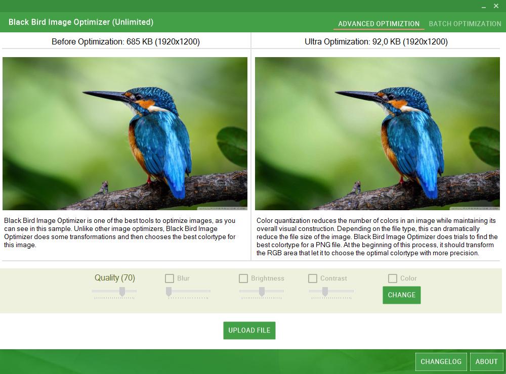 Black Bird Image Optimizer example image 1