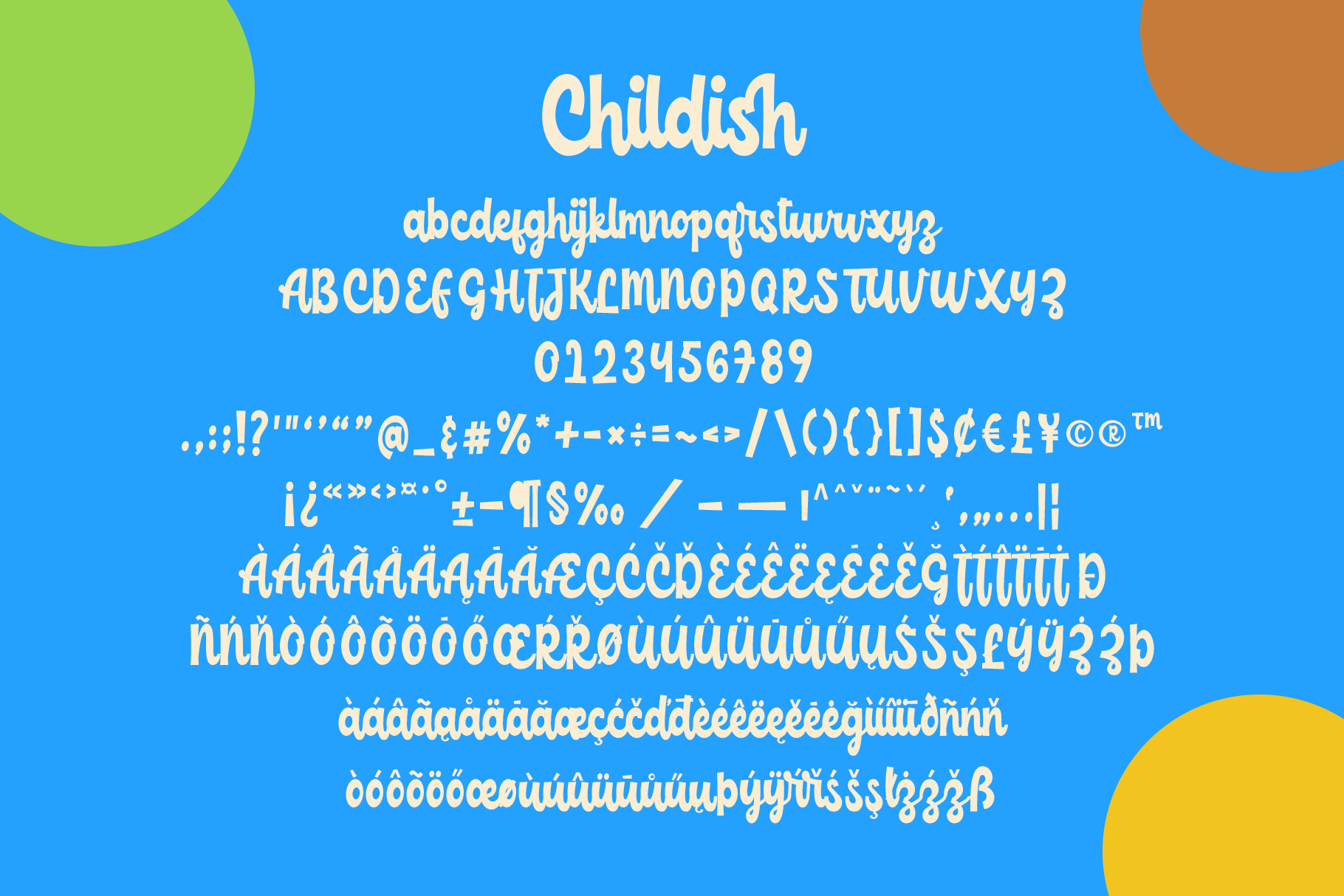 Childish -funny script font example image 14