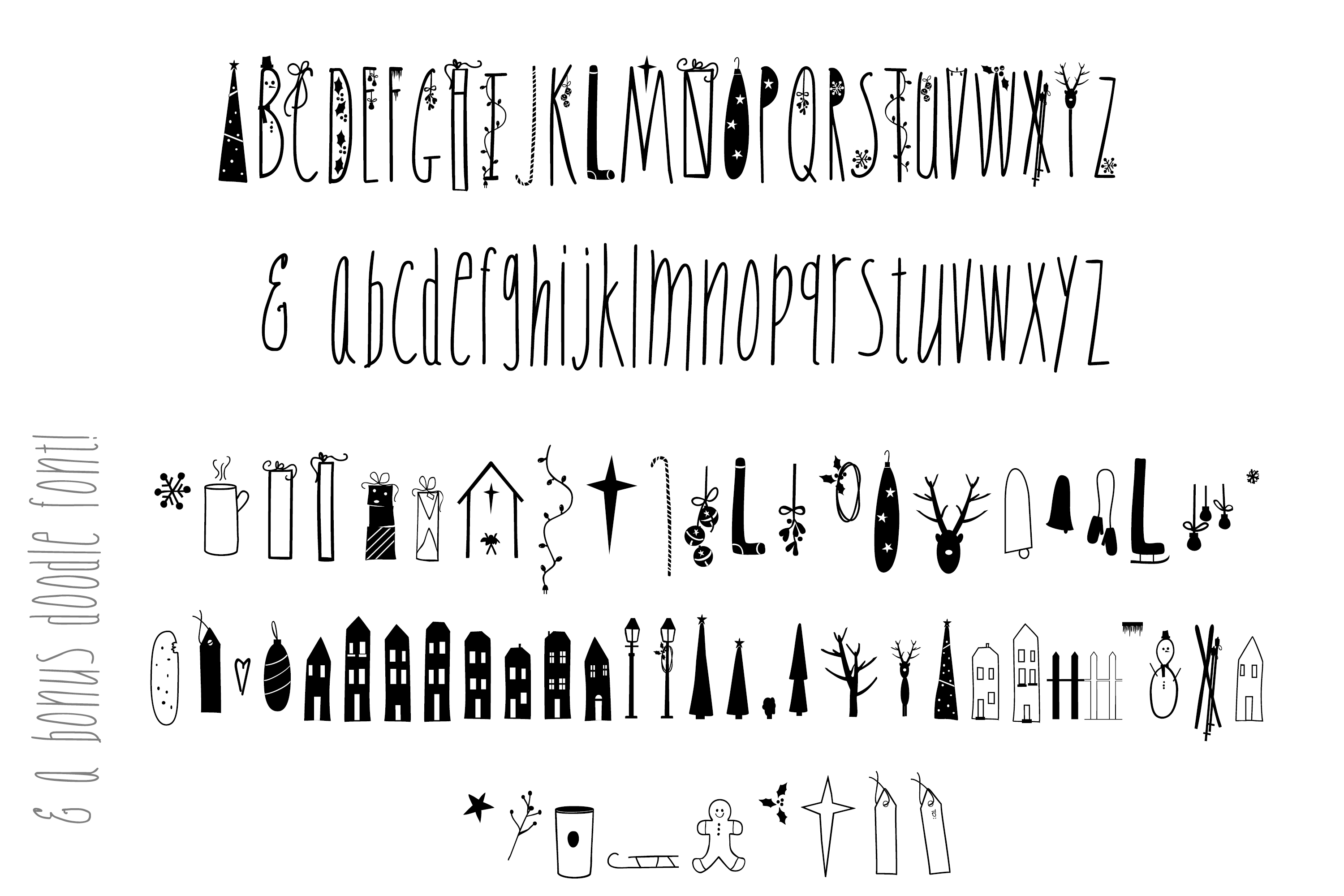 JINGLE FONT - a Christmas Typeface with Bonus DOODLES example image 7