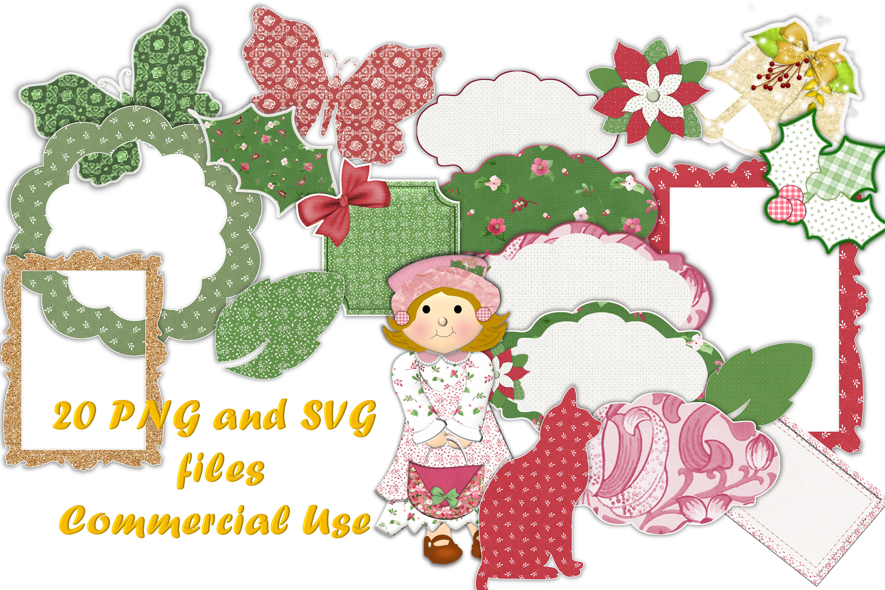 20 PNG and SVG files for Commercial Use Christmas Theme example image 1