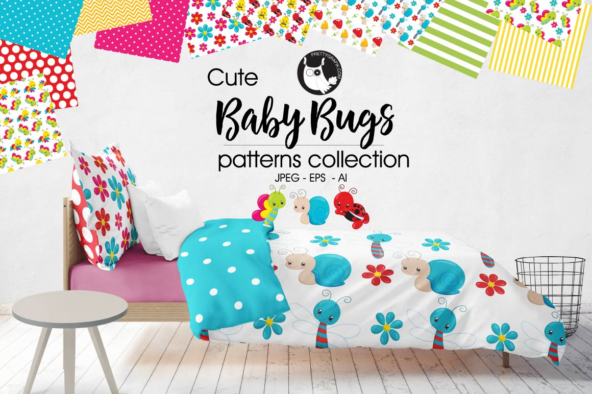 BABY-BUGS, digital papers example image 1