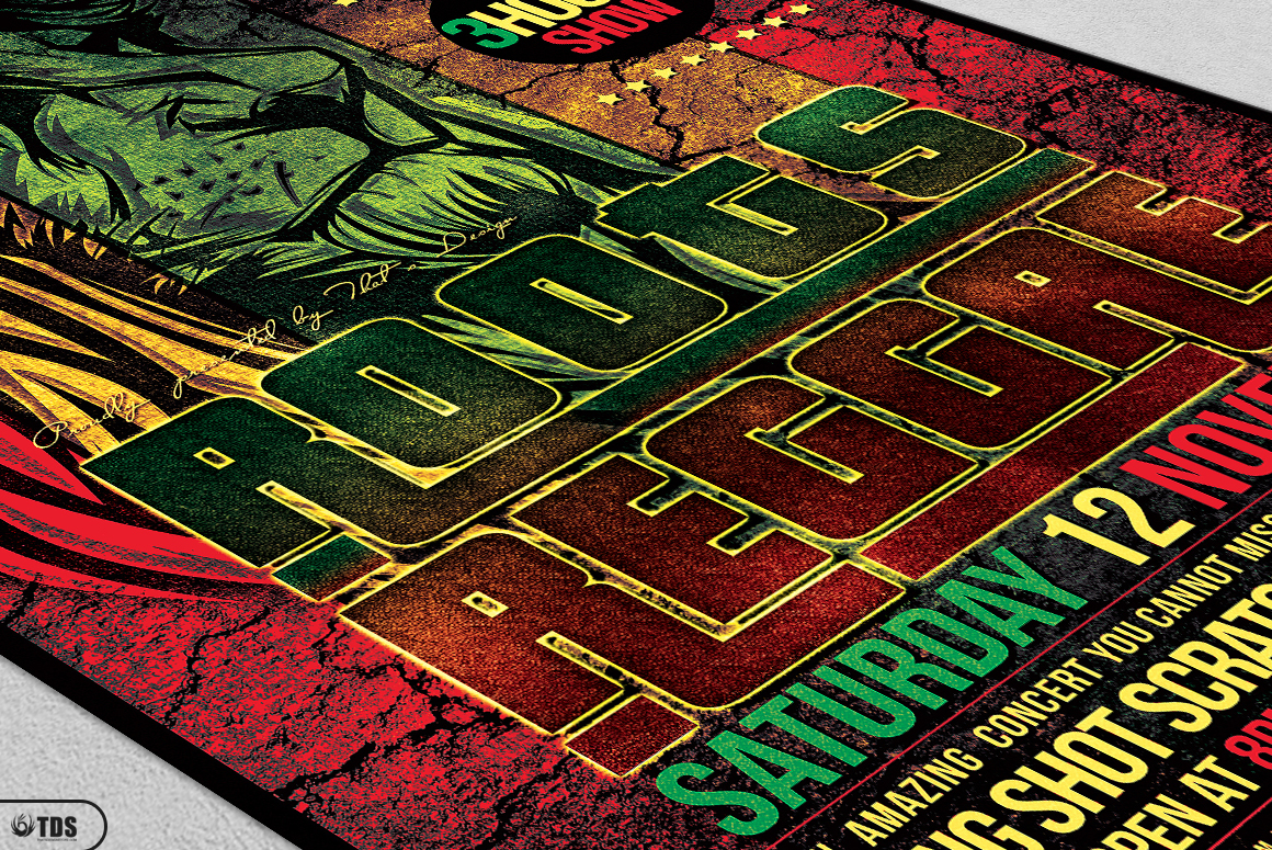 Roots Reggae Flyer Template example image 5
