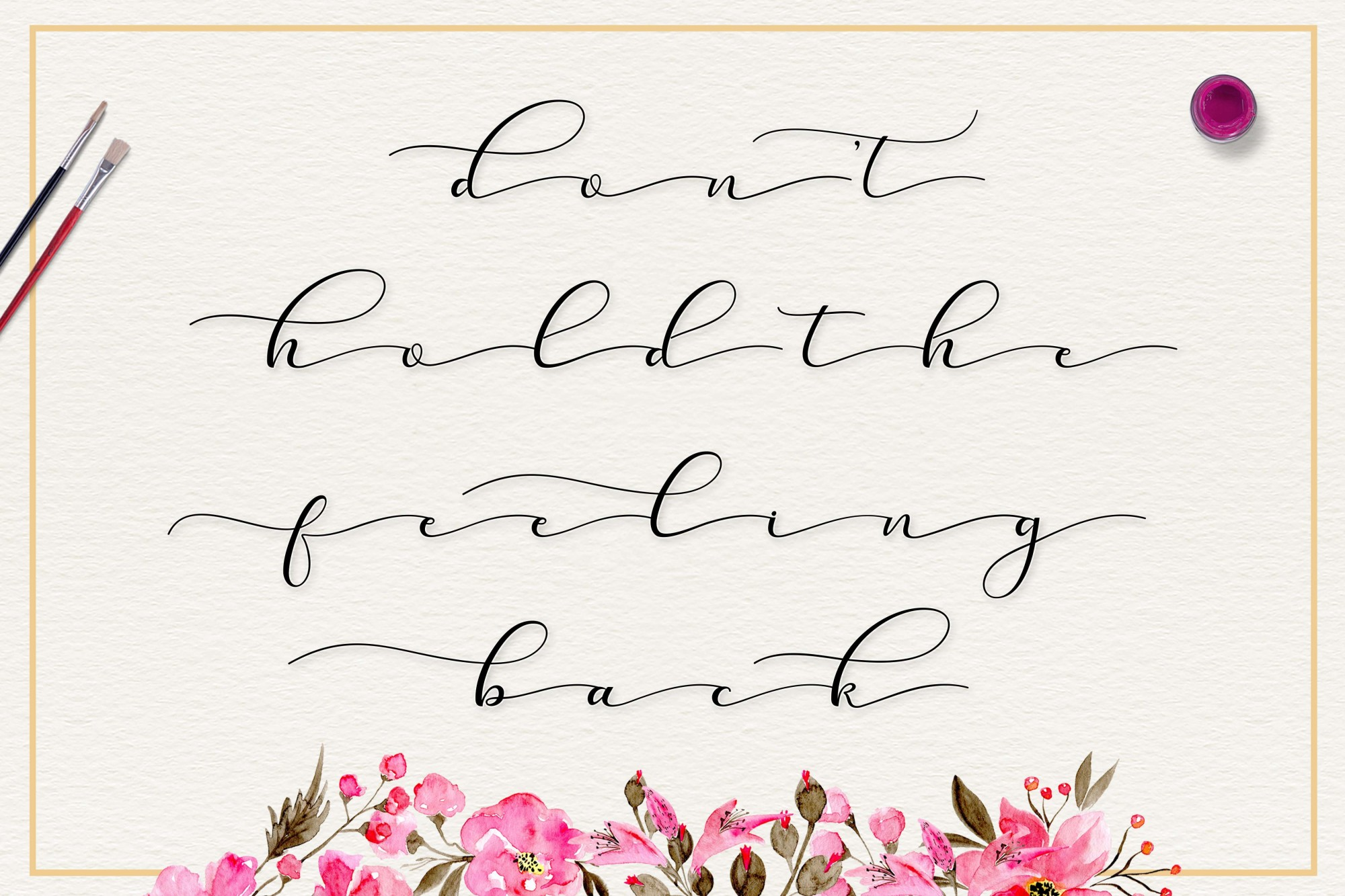 Sehia Script Calligraphy & Monoline example image 2