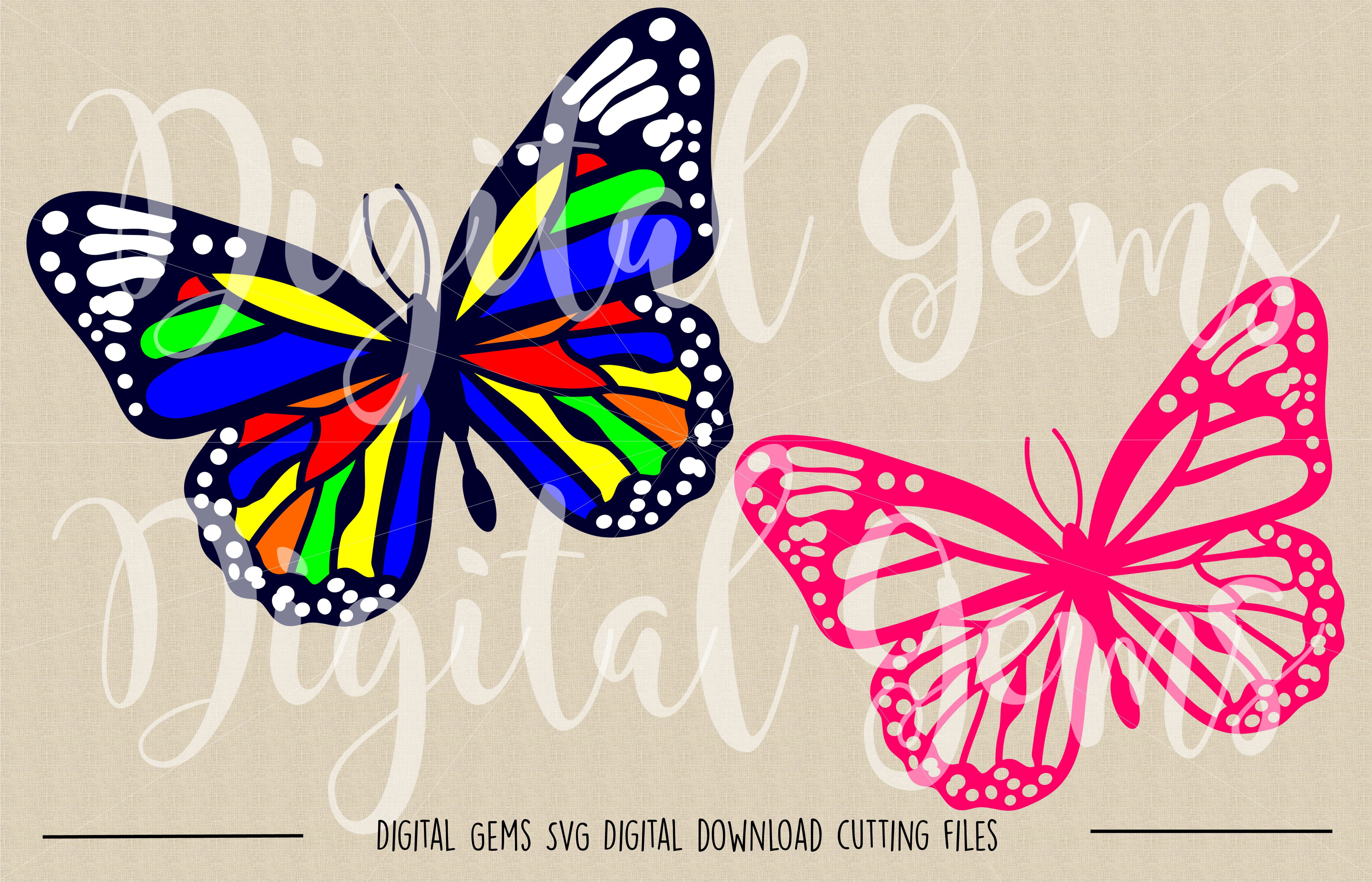 Butterfly SVG / DXF / EPS / PNG files example image 2