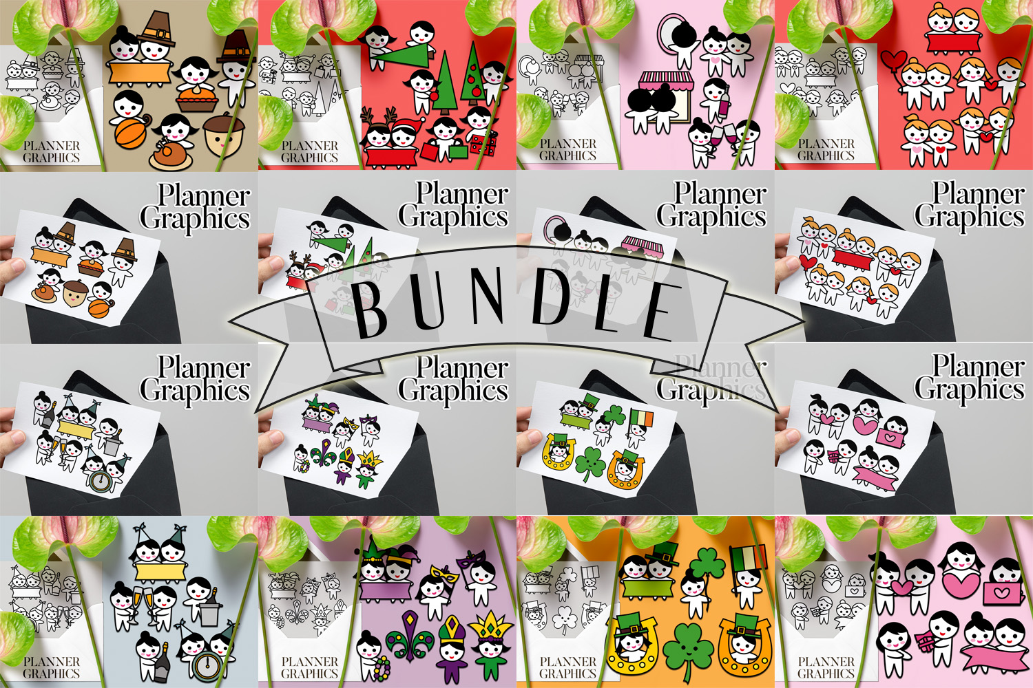Holidays Bundle - Planner Graphic Illustrations example image 1