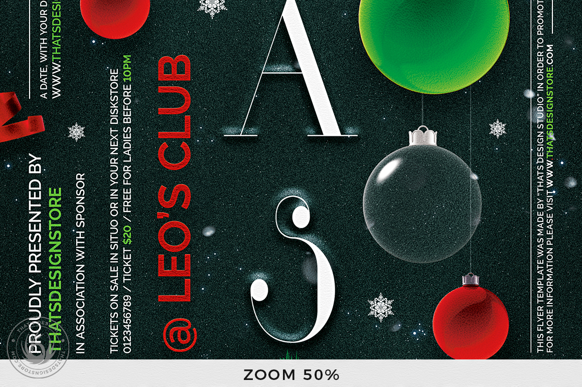 Christmas Eve Flyer Template V13 example image 8