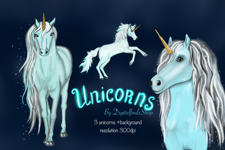 Unicorn clipart, fairy clipart, magic unicorn face clipart example image 2