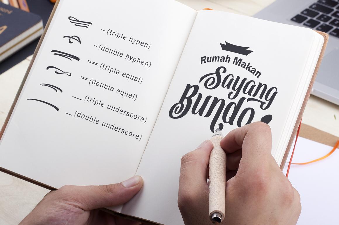 Dakmodal Typeface example image 5